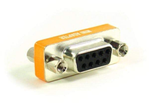 Null Modem Slim Adapter/ Gender Changer, DB9, Female to Female Sewell