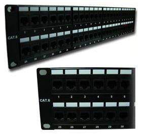 Patch Panel for Cat6 Ethernet RJ-45 Network, Sewell 48 SW-7183