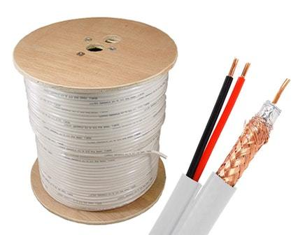 RG59 + Power Siamese Cable Bulk Cable Sewell White/Indoor 1000ft SW-23482