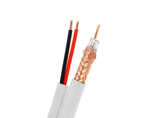 RG59 + Power Siamese Cable Bulk Cable Sewell White/Indoor 500ft SW-23481