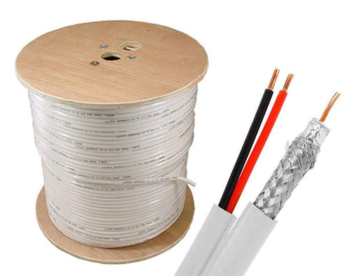 RG6 + Power Siamese Cable Bulk Cable Sewell White/Indoor 1000ft SW-30375