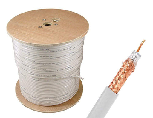 Shielded RG59 Bulk Cable Bulk Cable Sewell White/Indoor 1000ft/95% Braid SW-30378