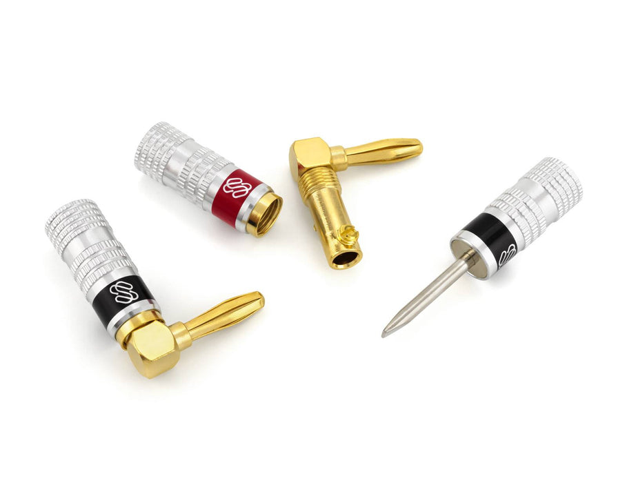 Silverback Banana Plugs with Right Angle Connectors Sewell Direct