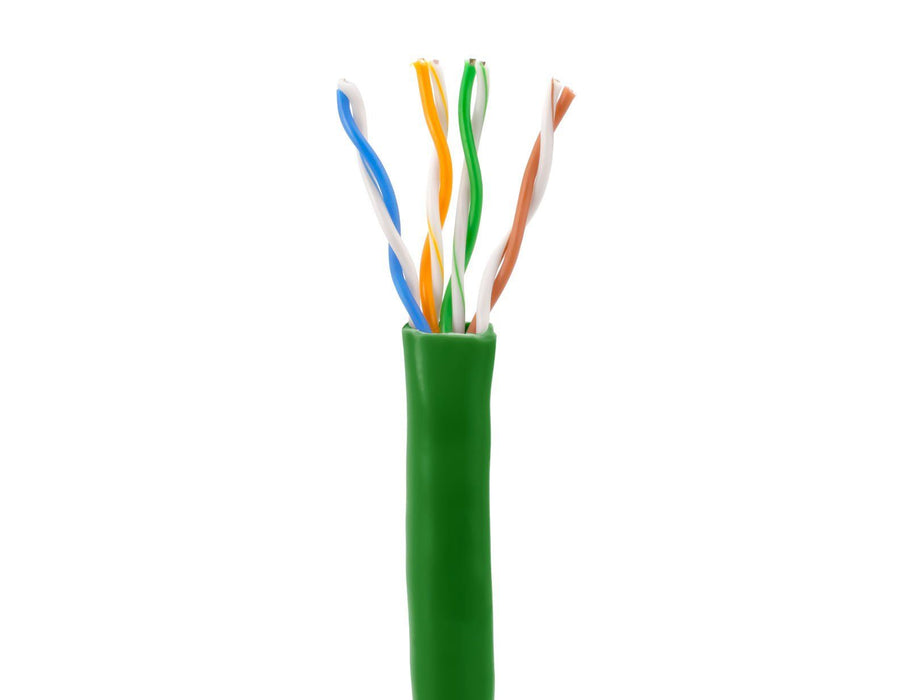 SolidRun Cat5e Bulk Cable, 24 AWG, UTP, 1,000ft, Pull Box Sewell Green SW-22345