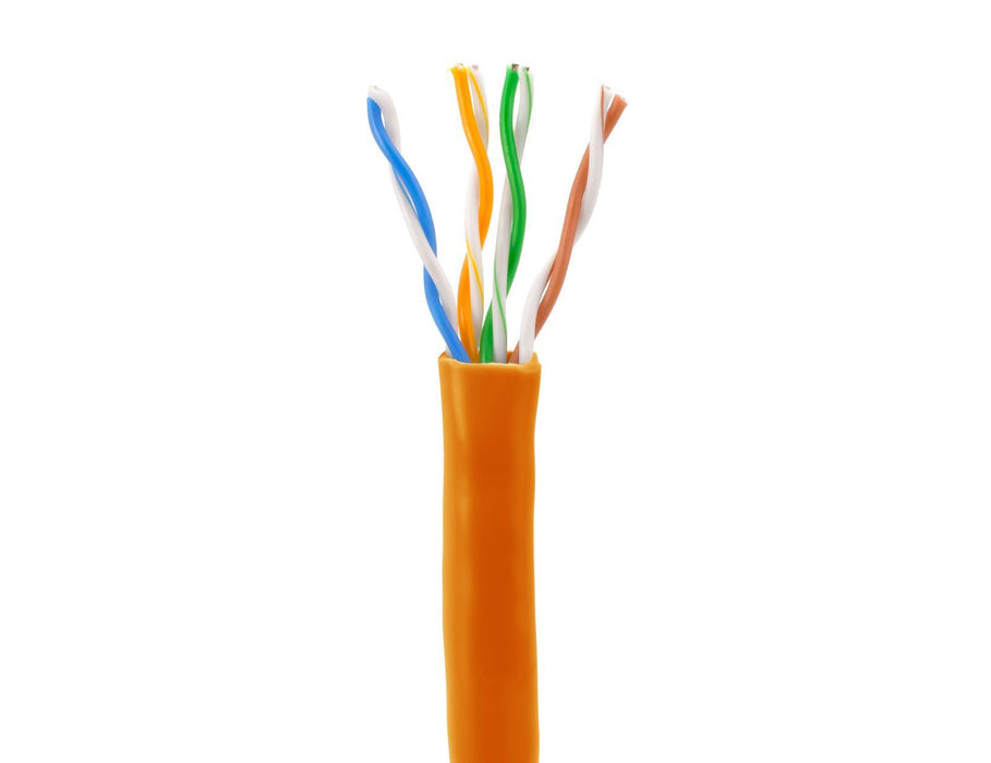 SolidRun Cat5e Bulk Cable, 24 AWG, UTP, 1,000ft, Pull Box Sewell Orange SW-22343