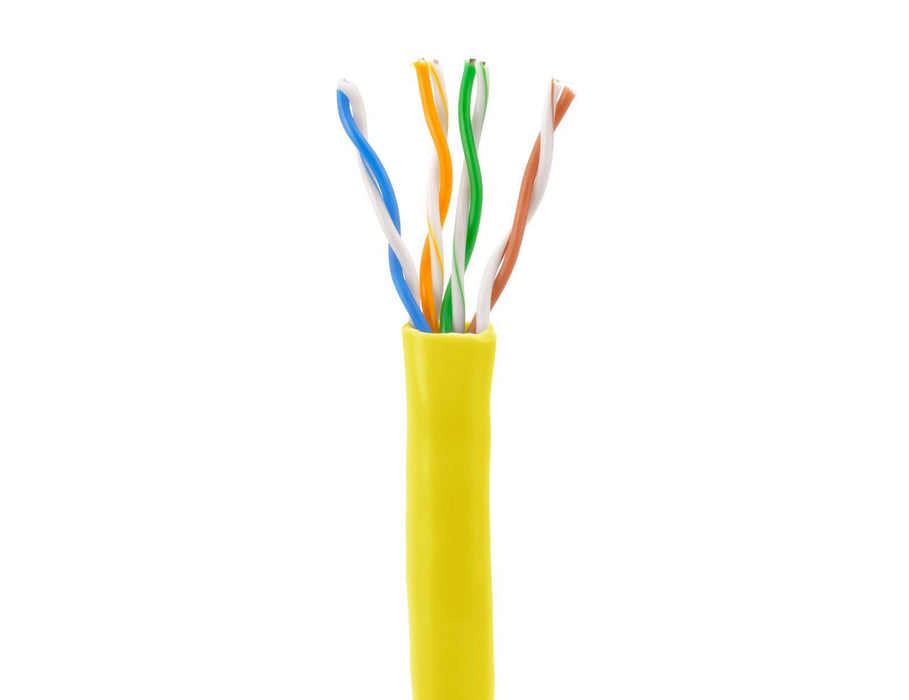 SolidRun Cat5e Bulk Cable, 24 AWG, UTP, 1,000ft, Pull Box Sewell Yellow SW-21969