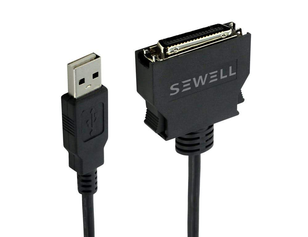 USB to Mini Centronics Cable, 5 ft. Connectors Sewell