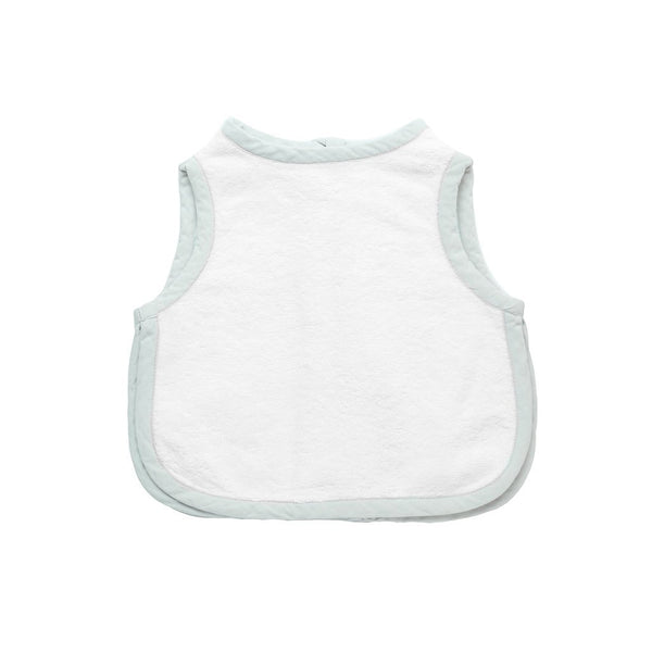 apron bib - french grey