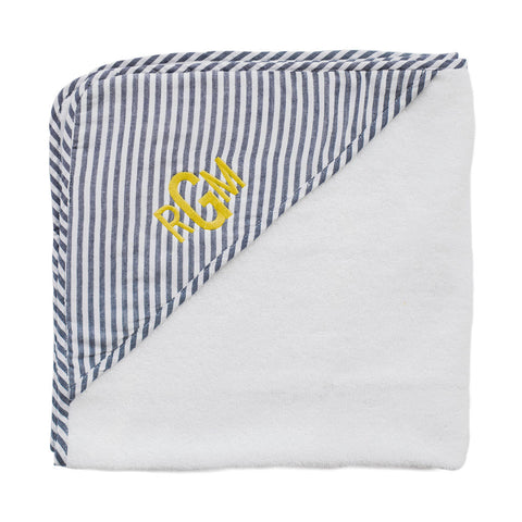 Hooded towel and wash glove | Harbor Island stripe
