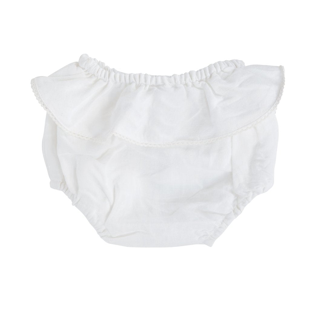Bloomer | White linen frill