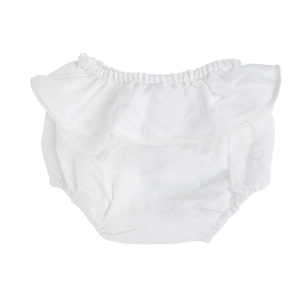 *Backordered - Shipping November 11, Bloomer | White linen frill