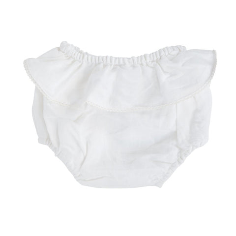 *Backordered - Shipping November 1st. Bloomer | White linen frill