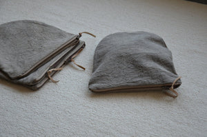 naturally dyed zip pouches earthy minimalist style