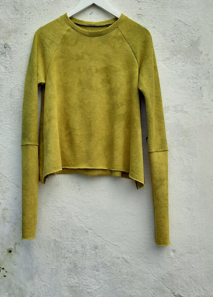 Grunge top earthy yellow