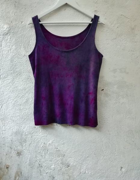 Hand dyed organic cotton vest