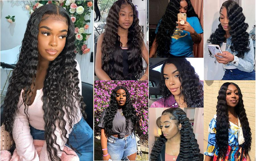 How to create soft baby hair with loose deep wave hair when back to school