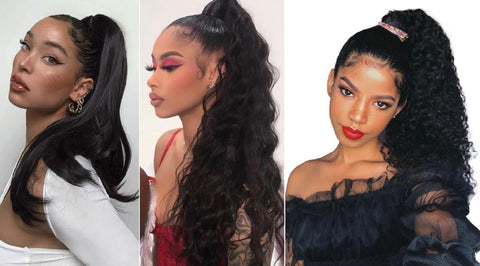 New ponytail extension suits for back to school wearing