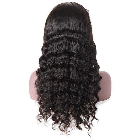 100% Virgin Remy Brazilian Loose Deep Wave Wig 13*4 Lace Front Human Hair Wigs - MeetuHair