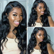 Body Wave lace Wigs Virgin Peruvian Hair 13x4 Lace Front Wig - MeetuHair