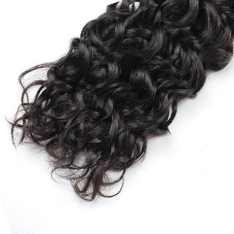 10A Peruvian Water Wave Virgin Human Hair 4 Bundles With 4*4 Lace Closure - MeetuHair