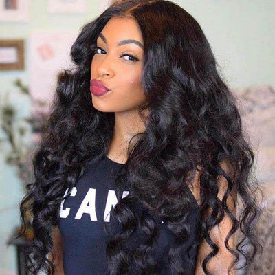 10A Remy Hair Peruvian Loose Wave Wig 13*4 Lace Front Human Hair Wigs - MeetuHair