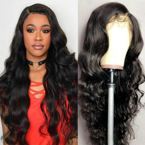 10A Virgin Cambodian Hair Body Wave Wig 13*4 Lace Front Human Hair Wavy Wigs - MeetuHair