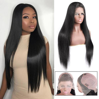 14/28 Inch In Stock! Hurry Up!HD Transparent Lace Wig Straight Hair 13*4 Lace Front Wig 10A Wigs - MeetuHair