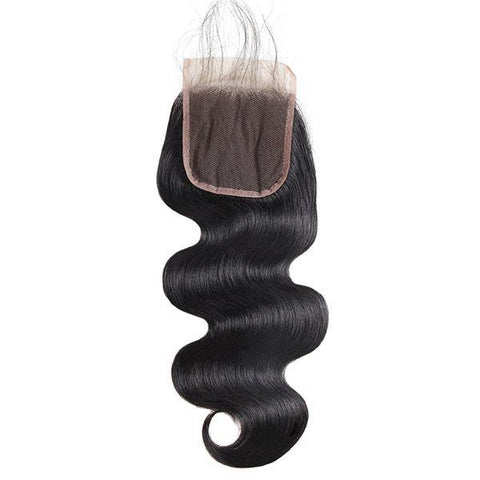 Body Wave Hair 4*4 Lace Closure 100% Virgin Human Hair