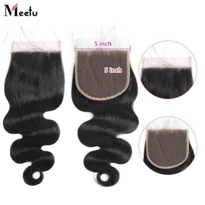 Body Wave 5*5 Lace Closure 10A Virgin Remy Human Hair Closure