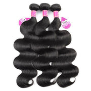 Brazilian Body Wave Virgin Human Hair 3 Bundles with 13*4 Lace Frontal - MeetuHair