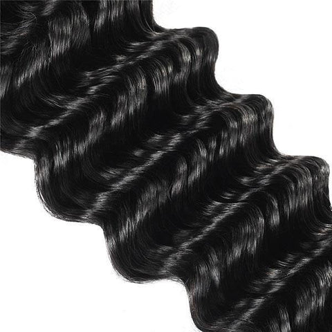 Deep Wave Hair 3 Bundles 10A Virgin Remy Indian Hair - MeetuHair
