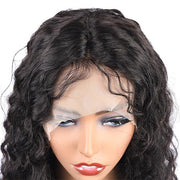 Deep Wave Hair Wig HD Transparent Lace Front Wig T Part Wigs - MeetuHair