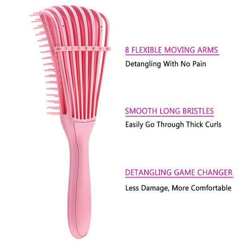 Detangle Brush Adjust Hair Brush Scalp Massage Comb Hairdressing Styling Tools - MeetuHair