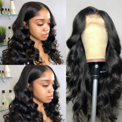 HD Transparent Lace Wig Body Wave 13*4 Lace Front Wig - MeetuHair