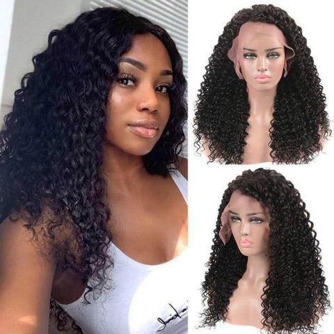 High Density Deep Wave Wig 13*4 Lace Front Human Hair Wigs - MeetuHair