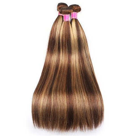 Highlight Brazlian Straight Hair 3 Bundles Virgin Remy Human Hair Weave - MeetuHair