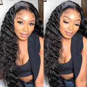 Loose Deep Wave 4*4 Lace Front Wig 100% Virgin Remy Brazilian Human Hair Wigs - MeetuHair