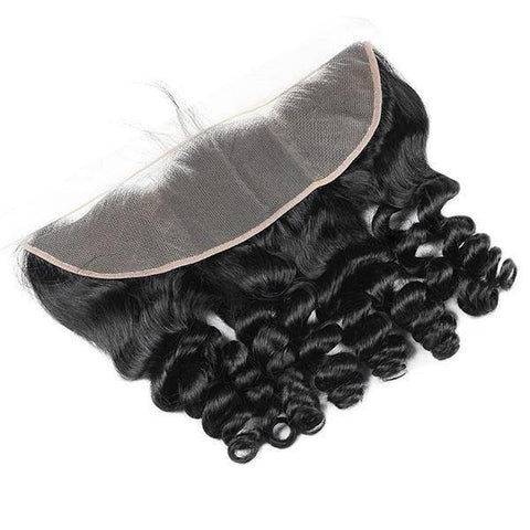 Loose Wave Hair 3 Bundles with 13*4 Lace Frontal Meetu Hair 10A Brazilian Human Hair - MeetuHair