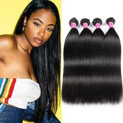 Meetu 10A Peruvian Human Hair Straight Hair 4 Bundles - MeetuHair