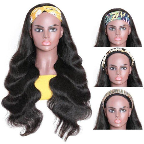 Meetu Body Wave Hair Headband Wig Affordable Natural Hair Half Wigs - MeetuHair