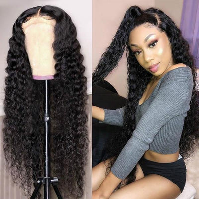 Meetu Cambodian Hair Curly Hair Wig 4*4 Lace Front Human Hair Wigs - MeetuHair