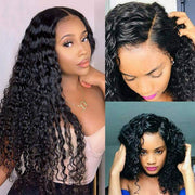 Meetu Cambodian Hair Deep Wave Wig 13*4 Lace Front Virgin Human Hair Wigs - MeetuHair