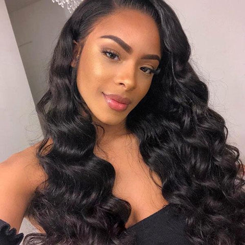 Meetu Hair Peruvian Loose Wave Virgin Human Hair Weave 3 Bundles with 4*4 Lace Closure - MeetuHair