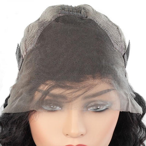 Meetu Hair Wig Brazilian Short Bob Deep Wave Lace Front Human Hair Wigs - MeetuHair