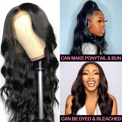 10A Peruvian Body Wave Wig Virgin Human Hair 13*4 Lace Front Wig - MeetuHair