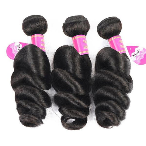 Peruvian Virgin Hair Loose Wave 3 Bundles 10A Remy Hair Bundles - MeetuHair