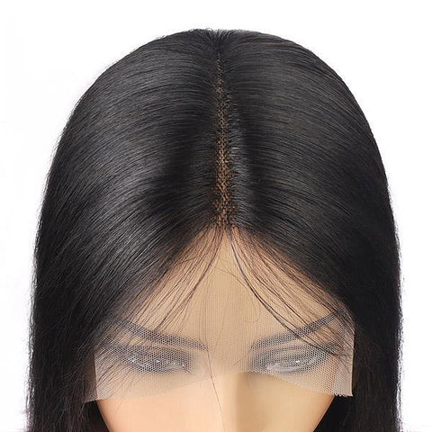 Straight Hair Wig HD Transparent Lace Front Wig T Part Wigs - MeetuHair