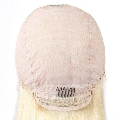 Transparent Lace Wig 613 Blonde Color Body Wave Hair Lace Front Wig T Part Wig - MeetuHair