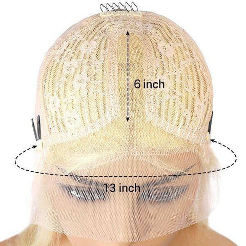 Transparent Lace Wig 613 Blonde Color Straight Hair Lace Front Wig T Part Wig - MeetuHair