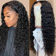 Virgin Brazilian Deep Wave 4*4 Lace Front Wig 10A Remy Human Hair Wigs - MeetuHair